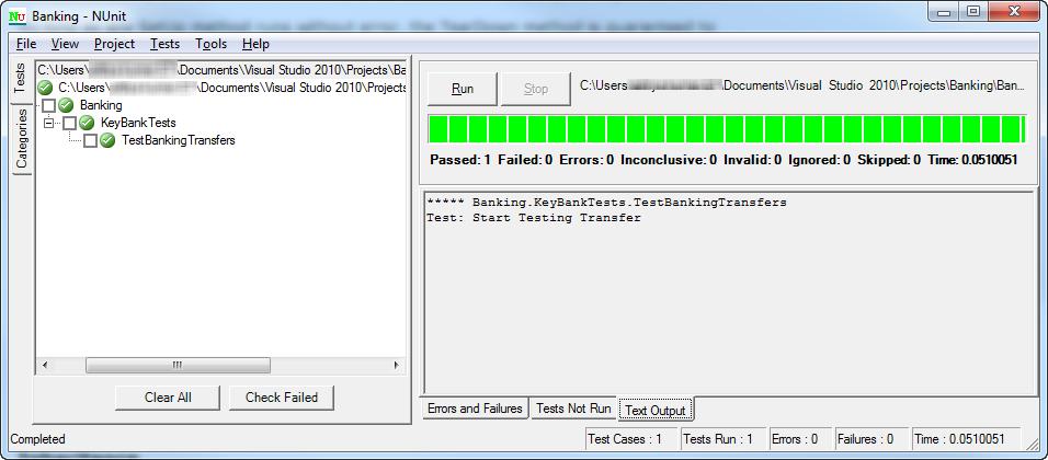 Sample NUnit.exe Application